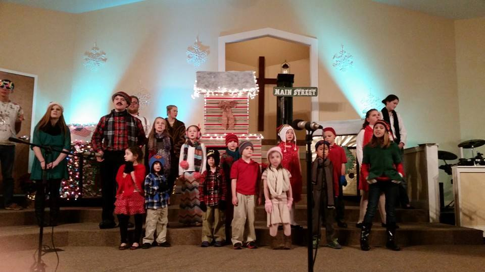 Children's Christmas Play Practice